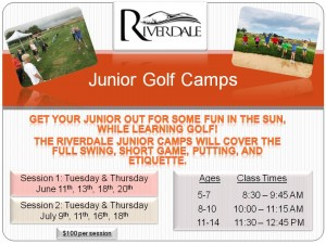 2019 Junior Golf Camp Flyer